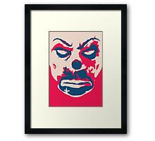 The Joker - bank mask Framed Print