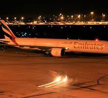 Emirates 77W Heavy - Perth Intl. Airport by Paul Lindau