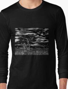 Kenya Landscape Etching Long Sleeve T-Shirt