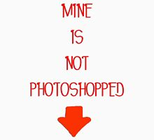 Mine is not photoshopped (girly tee) Womens Fitted T-Shirt