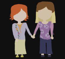 You're My Always - Willow & Tara Stylized Print One Piece - Long Sleeve