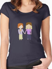 You're My Always - Willow & Tara Stylized Print Women's Fitted Scoop T-Shirt