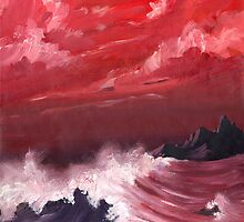 Ocean - turbulent sea scape by Kevin Brooks