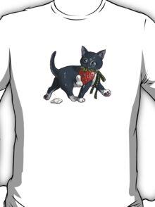 Strawberries and Cream Thief Kitten Tea Party T-Shirt