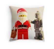 A zombie Christmas Throw Pillow