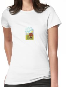 Golden Gold Apples Sky Cloud Sun Tree Womens Fitted T-Shirt