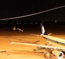 Midnight Lights - Perth Intl. Airport by Paul Lindau