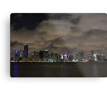 Miami City Scape Metal Print