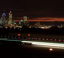 Perth Airport by Night by Paul Lindau