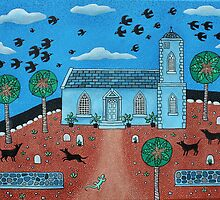 Caribbean Church with Kling-Klings - Jamaica by Amanda White