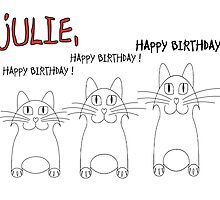 HAPPY BIRTHDAY, JULIE! by Jean Gregory  Evans