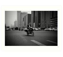 Beijing B&W V Art Print