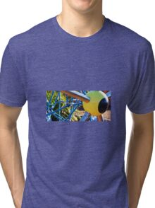 YELLOW EYEBALL Tri-blend T-Shirt