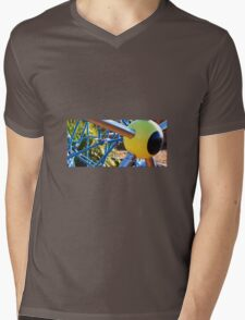 YELLOW EYEBALL Mens V-Neck T-Shirt