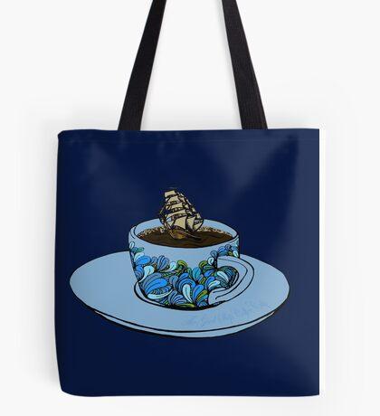 The Good Ship Coffee Cup Tote Bag