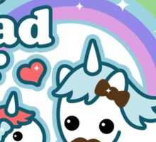 Best Unicorn Dad Sticker