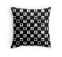Kingdom Hearts Grid (Filled) Throw Pillow