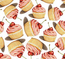Pink Cupcakes Twirling by PatriciaSheaArt