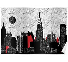 New York City Skyline Swing  Poster