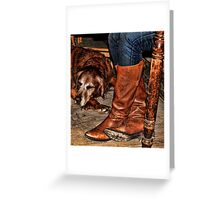 Boots and Buddy Greeting Card