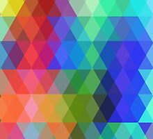 Abstract hipsters pattern with colored rhombus by EkaterinaP