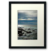 Sennen storms Framed Print