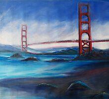 San Fransisco Golden Gate Bridge painting by schiabor