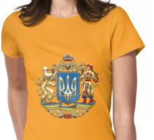 Ukraine: Proposed Greater Coat of Arms & Flag Womens Fitted T-Shirt