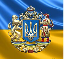 Ukraine: Proposed Greater Coat of Arms & Flag by Serge Averbukh