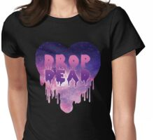 Pastel Goth Drop Dead Womens Fitted T-Shirt