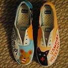 Vampire Weekend & Ra Ra Riot shoes by diigii