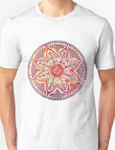 Mandala#3. Hand draw  ink and pen on textured paper Unisex T-Shirt