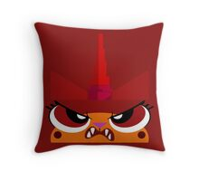No Frowny Faces Throw Pillow