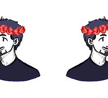 Carnations Flower Crown Tony by dragonkitty34