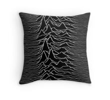 Music band waves - Black&White Throw Pillow