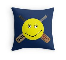 Dazed and Crossbones Throw Pillow