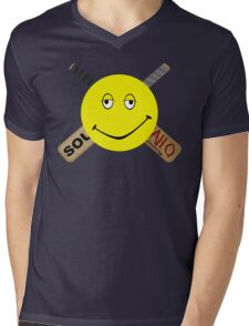 Dazed and Crossbones Mens V-Neck T-Shirt
