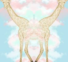 Giraffe in the Clouds by haypaige
