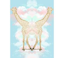 Giraffe in the Clouds Photographic Print