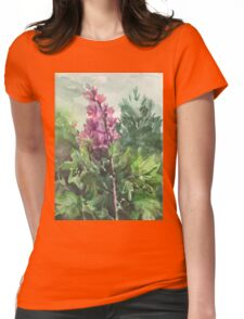 watercolor flowers Womens Fitted T-Shirt