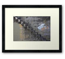 Concrete Stair Framed Print