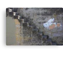 Concrete Stair Canvas Print