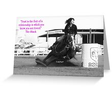 Trust (with Quote) Greeting Card