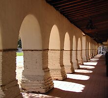 Mission San Juan Bautista - Portico Right by Cupertino