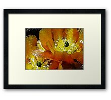 GREEN DOTS Framed Print