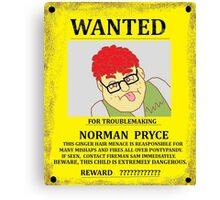 Norman Pryce Wanted Poster Canvas Print