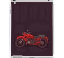 red vintage motorcycle iPad Case/Skin