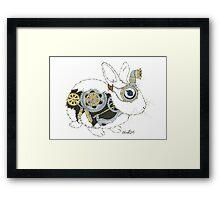 Daily Doodle 33 - Robot - Steampunk Bunny -Elvis Framed Print