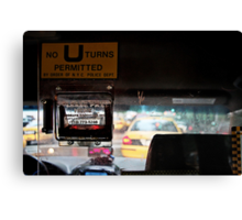 No U-turns Permitted Canvas Print