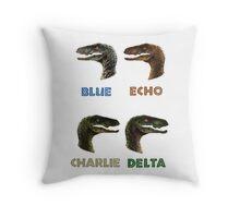 Jurassic World Raptors Throw Pillow